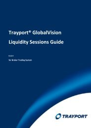 Chapter 1: Introduction to the Liquidity Sessions Guide - Trayport