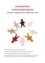 PSICOGENEALOGIA E COSTELLAZIONI FAMILIARI - Centro Crisalide