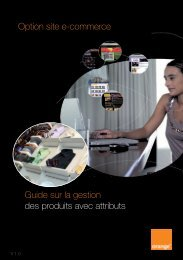 Guide sur la gestion des produits avec attributs - Assistance Orange