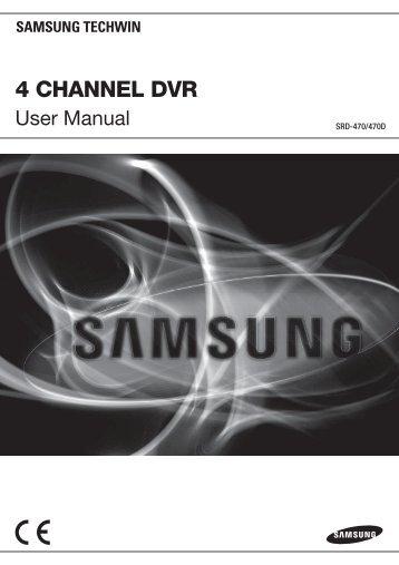 User Manual Samsung SRD-470D/470DC DVR