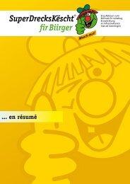 SDK fir Biirger - Brochure FR - SuperDrecksKÃ«scht