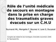 Rôle de l'unité médicale de secours en montagne dans la prise en ...