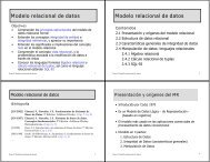 Modelo relacional de datos Modelo relacional de datos