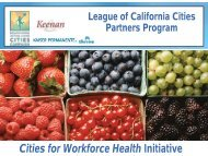Cities for Workforce Health Initiative - League of California Cities