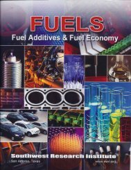 Fuel Additives & Fuel Economy Abstracts - Southwest Research ...