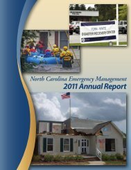2011 Annual Report - North Carolina Department of Public Safety