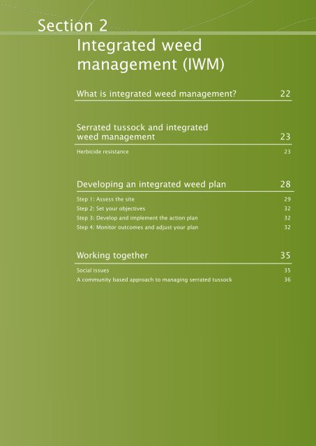 Section 2 Integrated weed management (IWM) - Weeds Australia