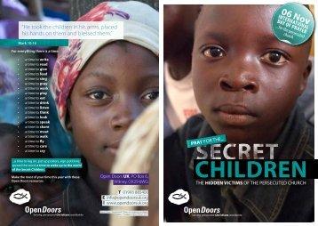 Secret Children booklet - Open Doors