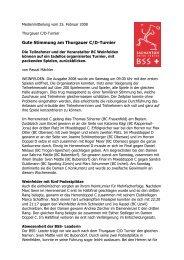 (25.02.08): Gute Stimmung am Thurgauer C/D-Turnier