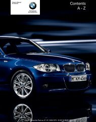 2011 1 Series Owner's Manual without iDrive - Irvine BMW