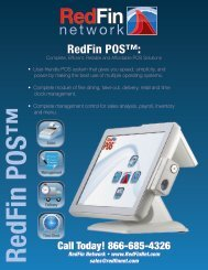 RedFin POS™ Datasheet - RedFin Network