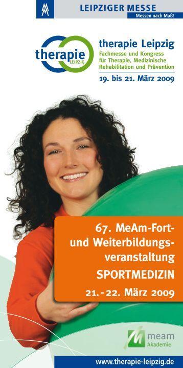 SPORTMEDIZIN 67. MeAm-Fort - Pflege + Homecare Leipzig