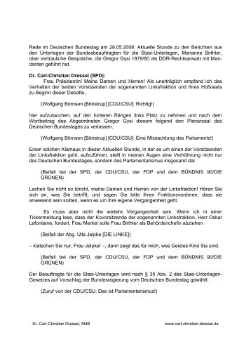 Rede im Deutschen Bundestag am 28.05.2008: Aktuelle Stunde zu ...