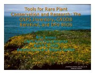 Tools for Rare Plant Conservation and Research: The CNPS ...