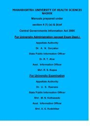 Information Act - Maharashtra University of Health Sciences