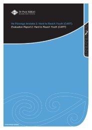 Evaluation Report 2: Hard to Reach Youth (CART) - Te Puni Kokiri