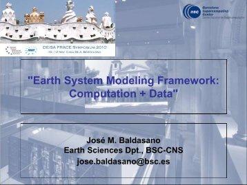 Earth System Modeling Framework: Computation+Data - prace