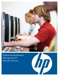 HP Education & Training services - Digital Learning Environments