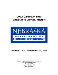 2012 Calendar Year Legislative Annual Report - Nebraska ...