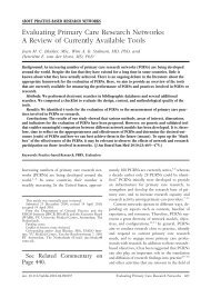 Evaluating Primary Care Research Networks: A Review of Currently ...