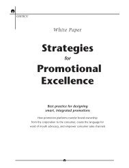 Strategies Promotional Excellence - Tribal Technologies