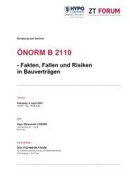 önorm b 2110 - Kammer der ZiviltechnikerInnen für Steiermark und ...