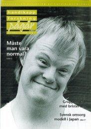 Nummer 1 - Centrum för forskning om funktionshinder - Uppsala ...