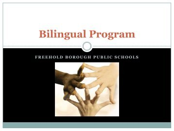 Bilingual Program - Freehold Borough School
