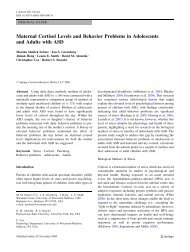 Maternal Cortisol Levels and Behavior Problems in Adolescents and ...