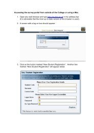 Accessing the survey portal from outside of the College or using a ...