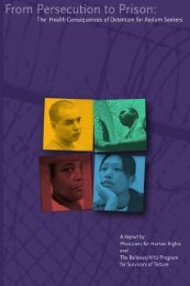 From Persecution to Prison - Bellevue/NYU Program for Survivors of ...