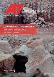 Jahresinhaltsverzeichnis 2012 - Mineral Processing