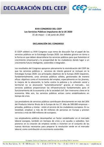 Para ver las conclusiones del Congreso (versión española)