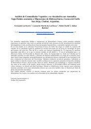 Análisis de Comunidades Vegetales y su vinculación ... - Larriestra