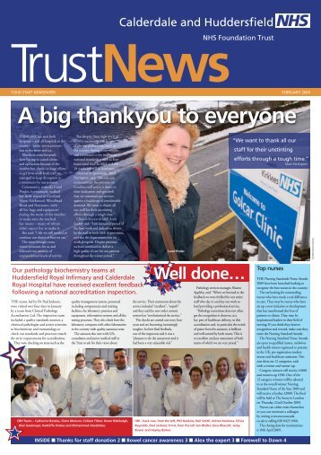 A big thankyou to everyone - Calderdale and Huddersfield NHS ...