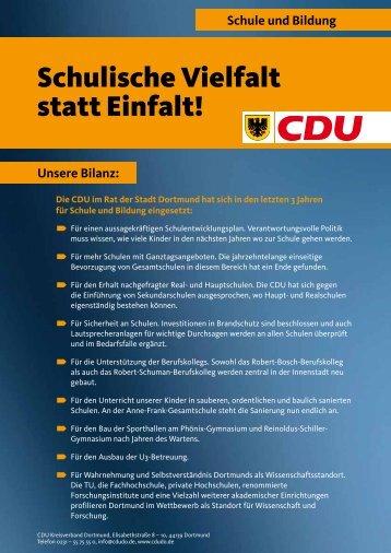 Schule und Bildung - CDU Dortmund