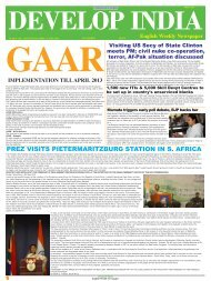 Develop India Year 4, Vol. 1, Issue 195, 29 April - 6 May, 2012.pmd