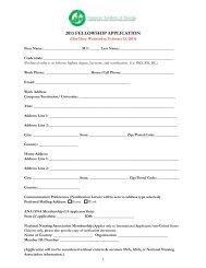 2013 Fellowship Application Checklist - American Academy of Nursing
