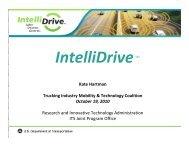October 19, 2010 - IntelliDrive, Kate Hartman, RITA - Trucking ...