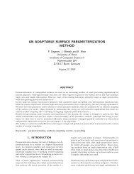 an adaptable surface parameterization method - Computer Graphics ...