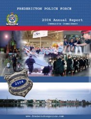 2004 Annual Police Report - Fredericton