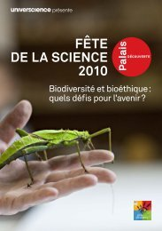 Programme disponible au format PDF - Palais de la découverte