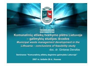 Komunalinių atliekų tvarkymo plėtra Lietuvoje