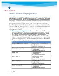 American Water Invoicing Requirements