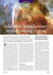 Solid-state astrochemistry in star-forming regions - UCL