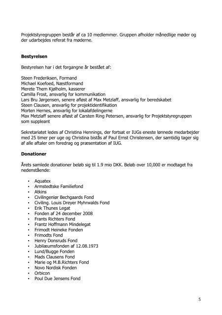 Bestyrelsens beretning til Generalforsamlingen 29.03 2012.