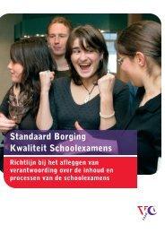 Standaard Borging Kwaliteit Schoolexamens - VO-raad