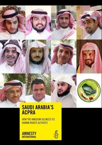 SaudiArabia'sACPRAHowtheKingdomsilencesitshumanrightsactivists