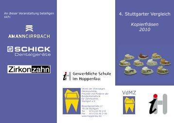 4. Stuttgarter Vergleich Kopierfräsen 2010 - Gewerblichen Schule Im ...