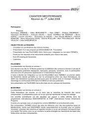 Chantier Méditerranée : réunion du 1 juillet 2008 - Division ...